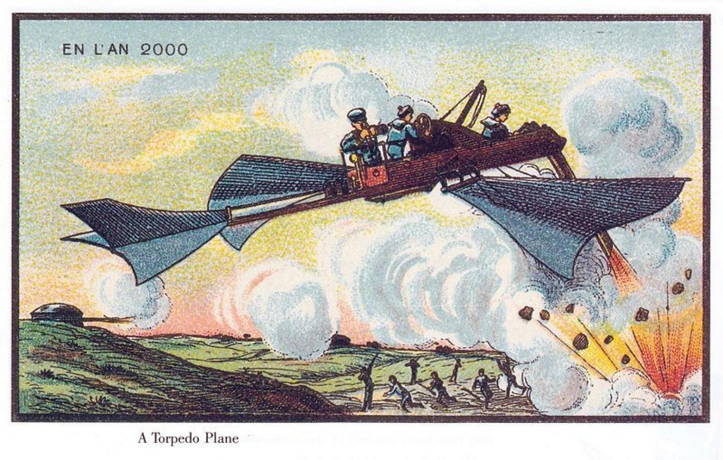 como imaginaban el futuro en 1900 ilustraciones 17
