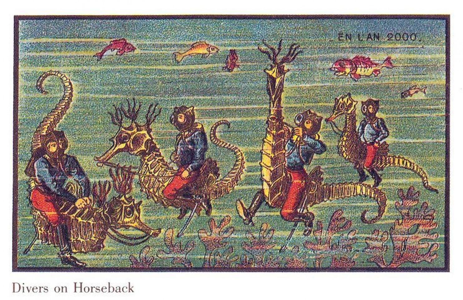 como imaginaban el futuro en 1900 ilustraciones 19