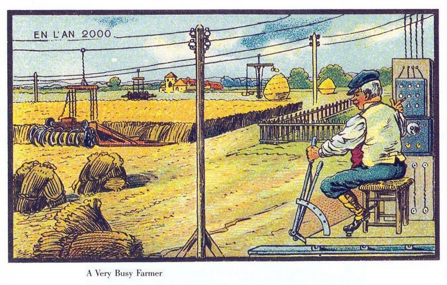 como imaginaban el futuro en 1900 ilustraciones 2