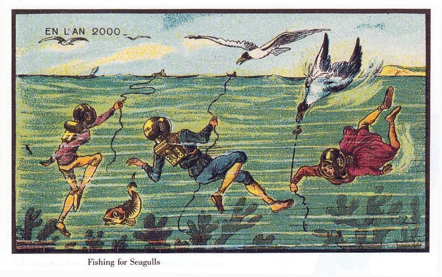 como imaginaban el futuro en 1900 ilustraciones 20