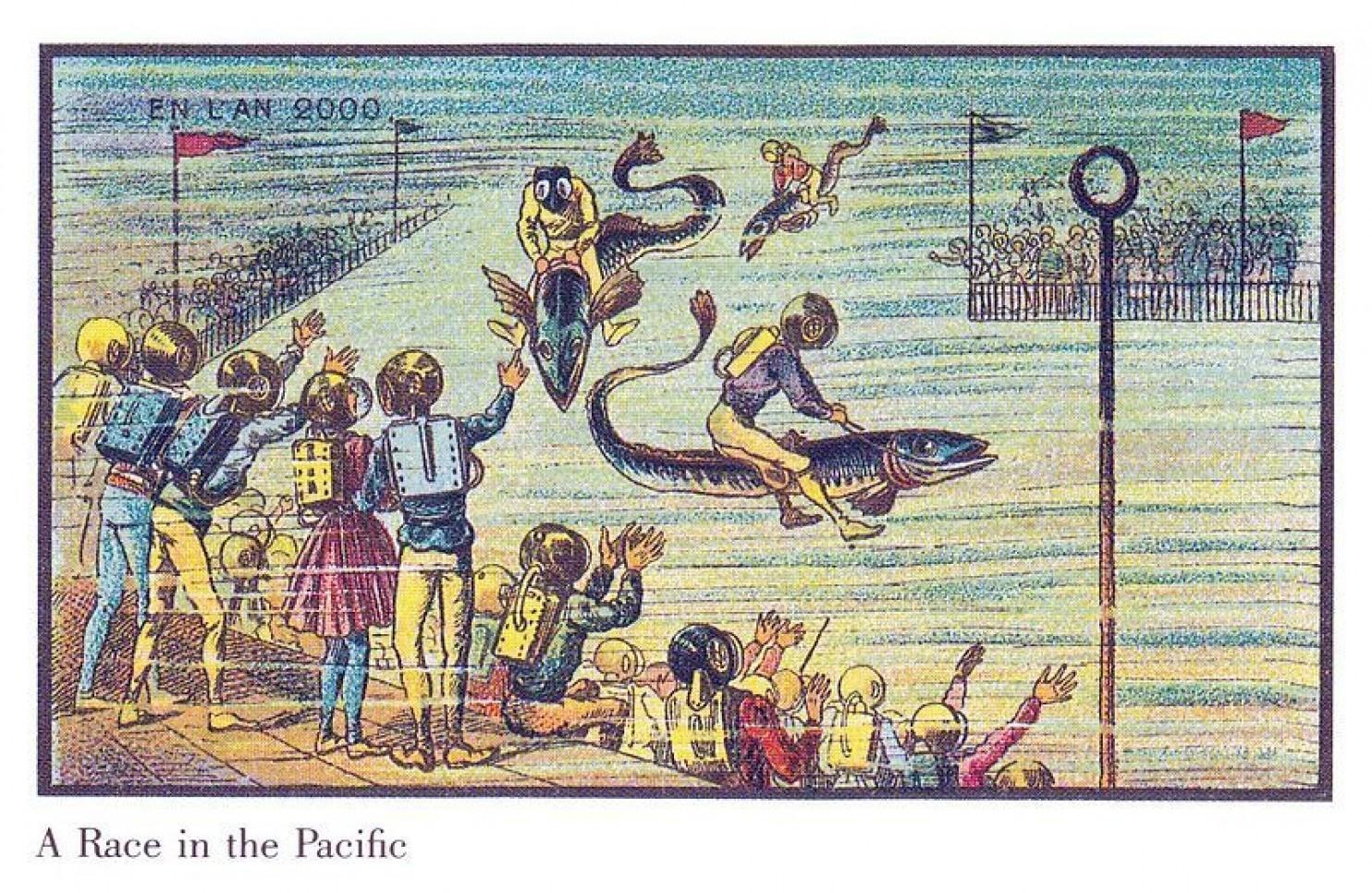 como imaginaban el futuro en 1900 ilustraciones 21