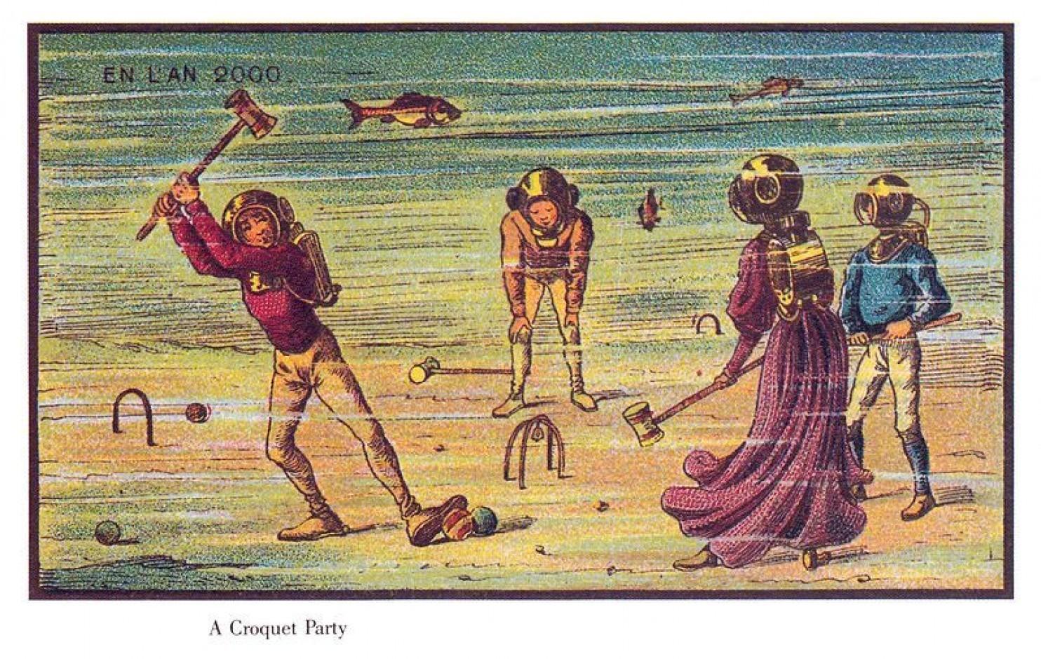 como imaginaban el futuro en 1900 ilustraciones 22