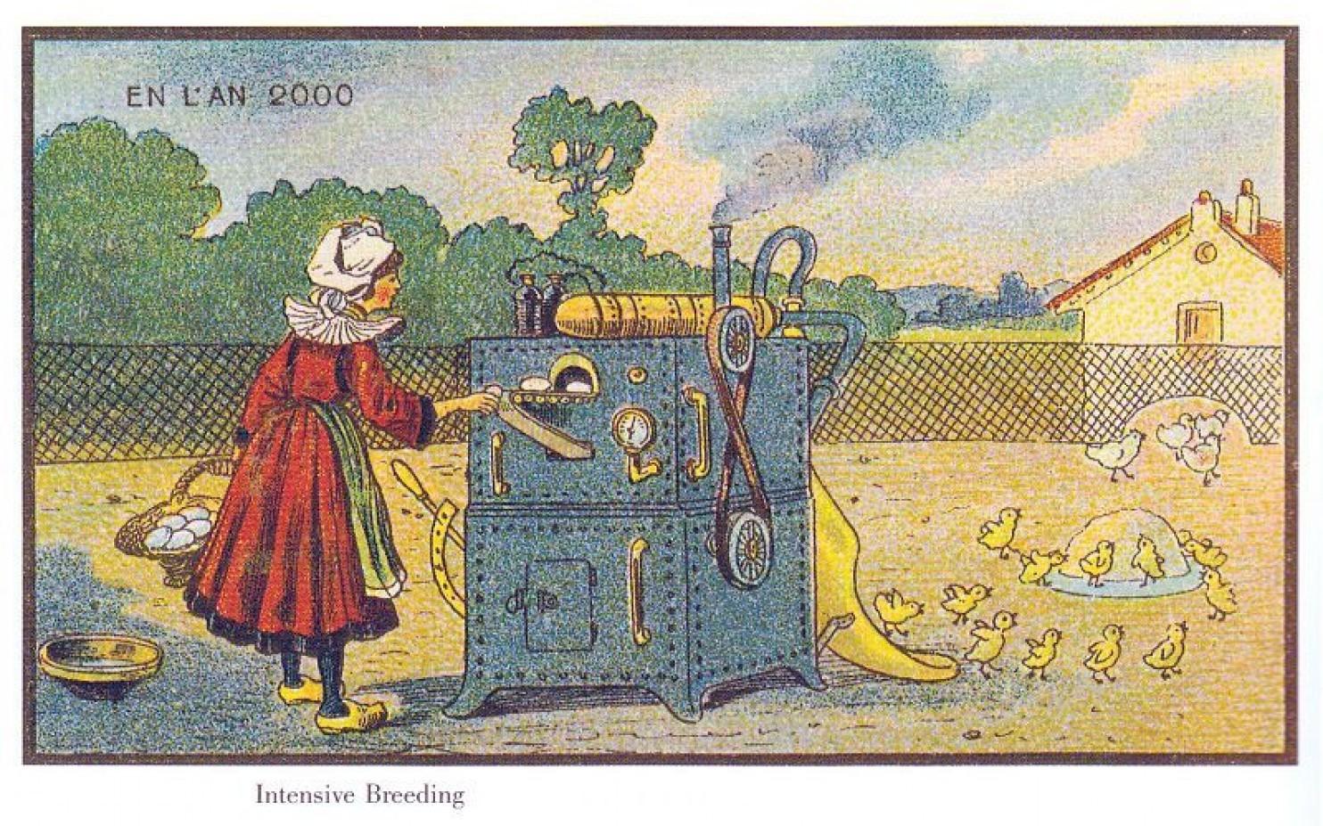 como imaginaban el futuro en 1900 ilustraciones 3