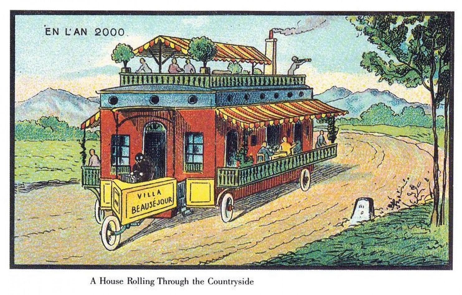 como imaginaban el futuro en 1900 ilustraciones 4