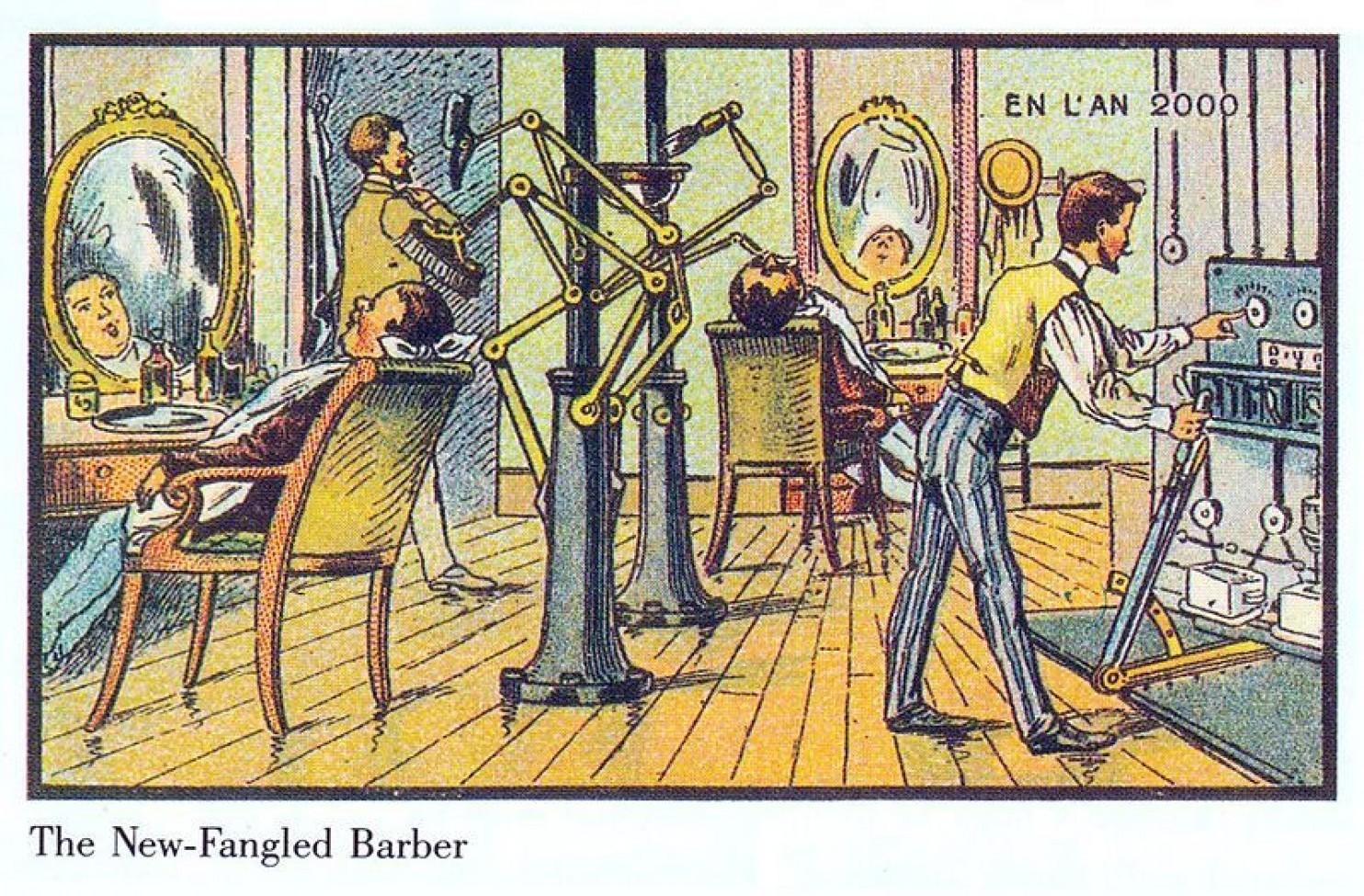 como imaginaban el futuro en 1900 ilustraciones 5