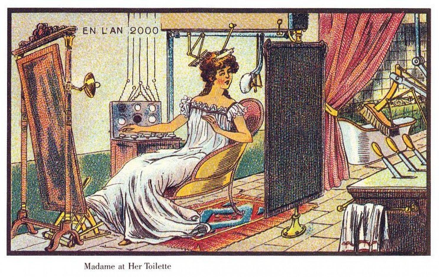 como imaginaban el futuro en 1900 ilustraciones 6