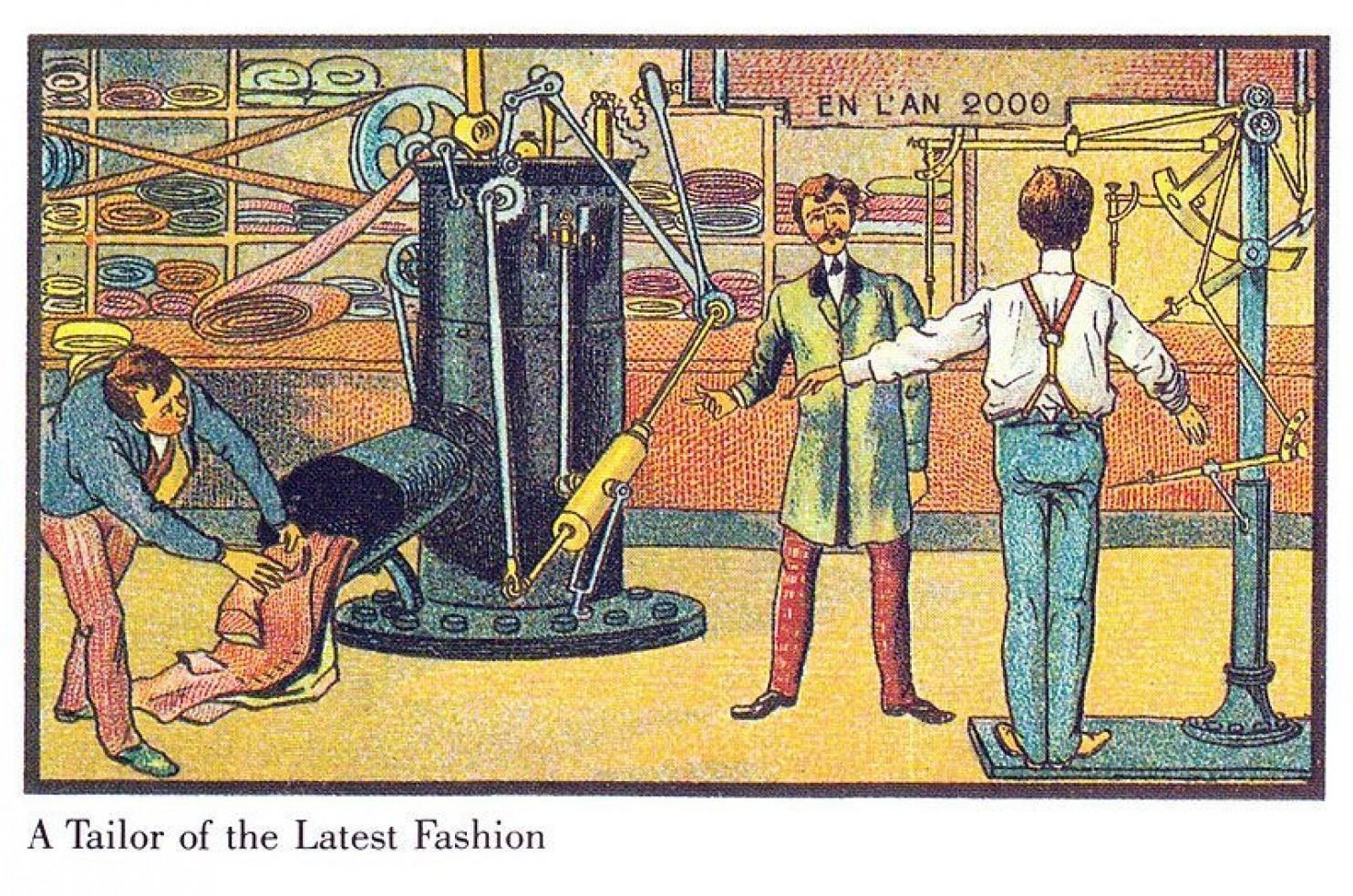 como imaginaban el futuro en 1900 ilustraciones 7