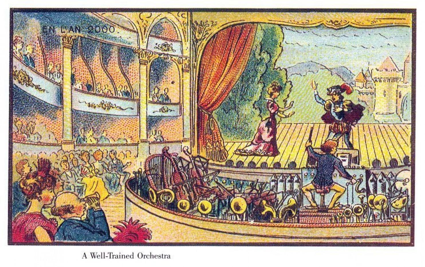 como imaginaban el futuro en 1900 ilustraciones 8