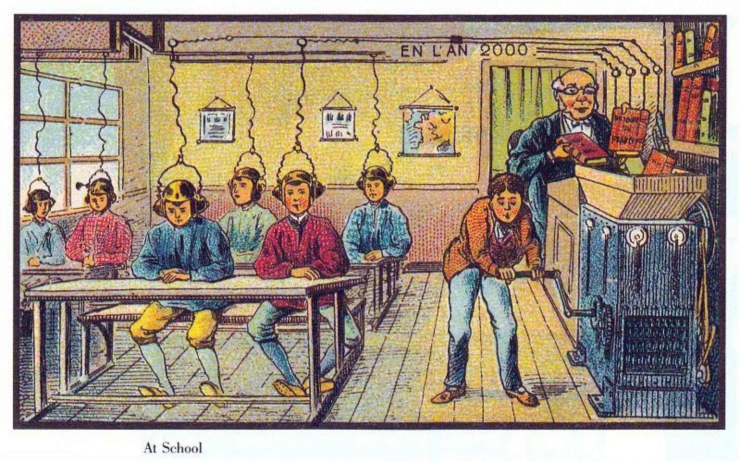 como imaginaban el futuro en 1900 ilustraciones 9