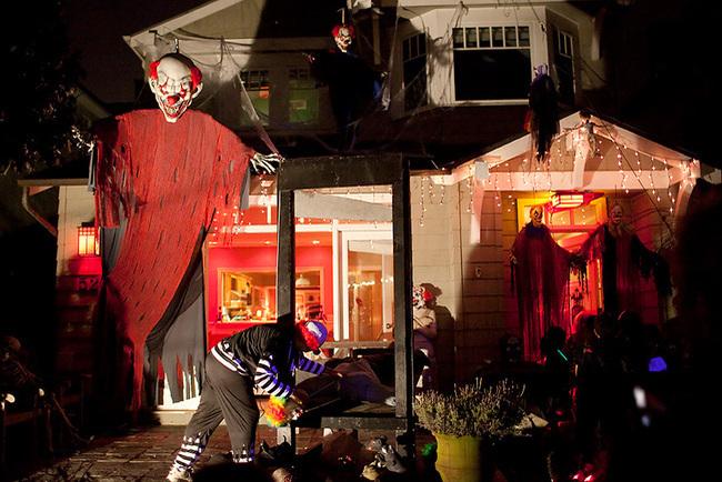 las mejores decoraciones de casas para halloween 15