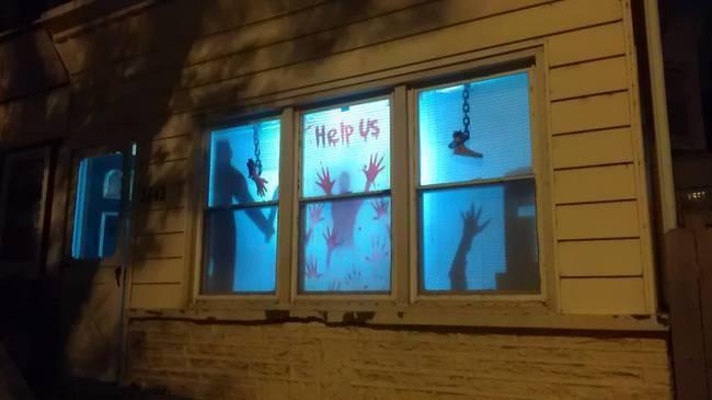 las mejores decoraciones de casas para halloween 17