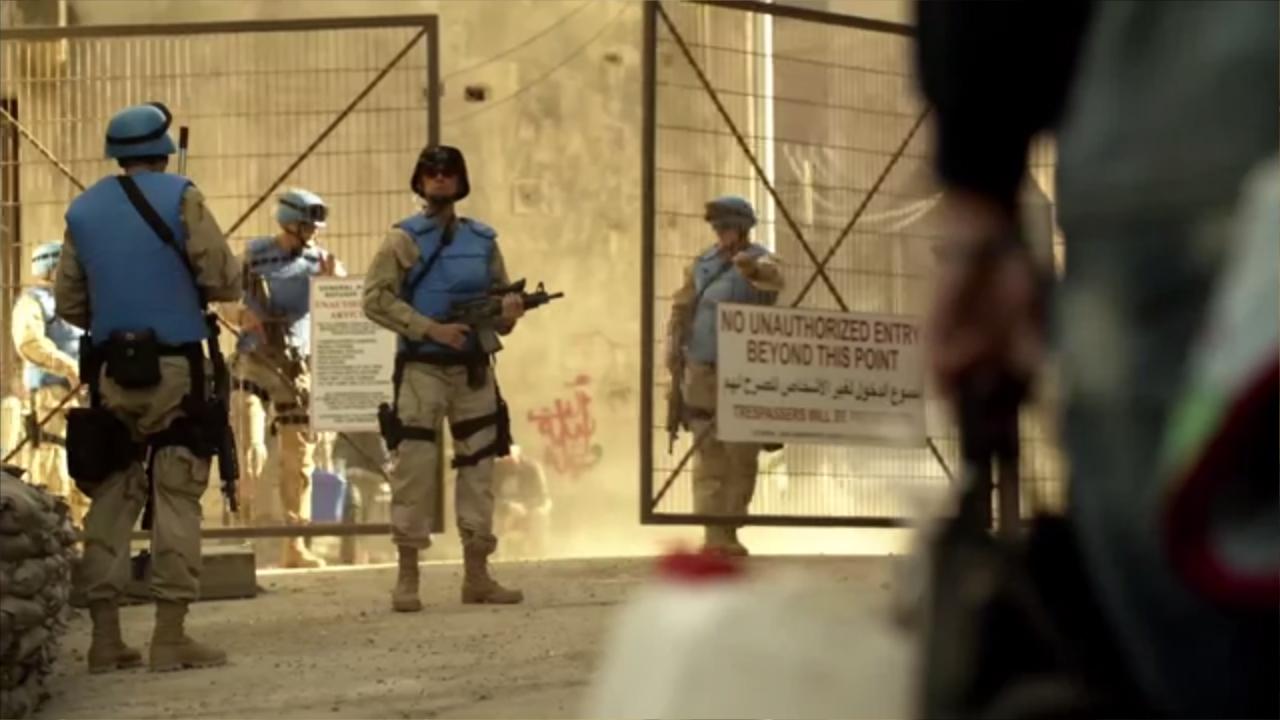 los artistas callejeros grafiteros arabes boictean homeland desde dentro 11