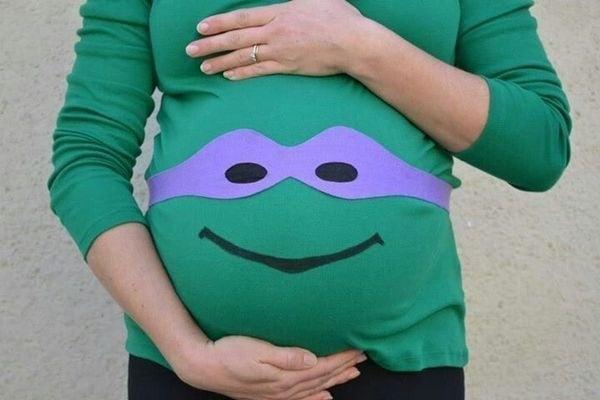 los mejores disfraces de halloween para embarazadas 17