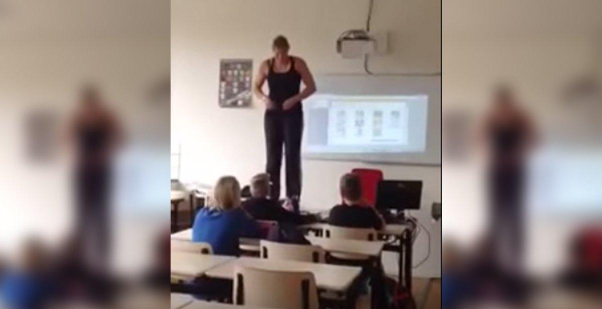 La peculiar manera de enseñar anatomía de esta profesora no te ...
