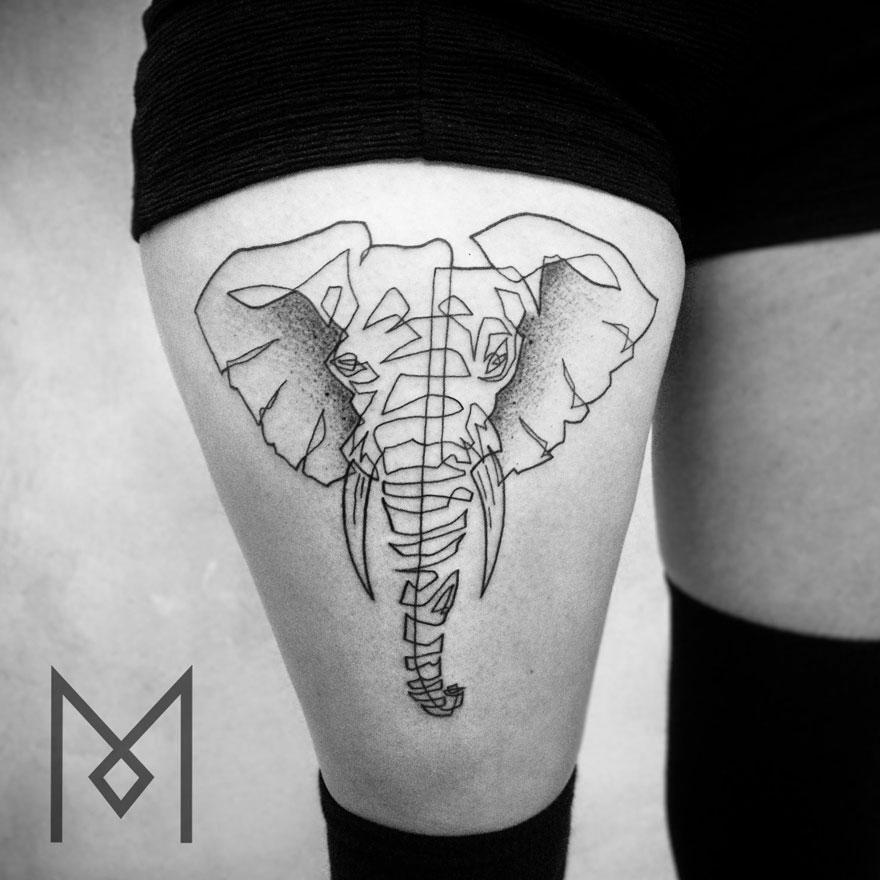 tatuajes de una linea 12