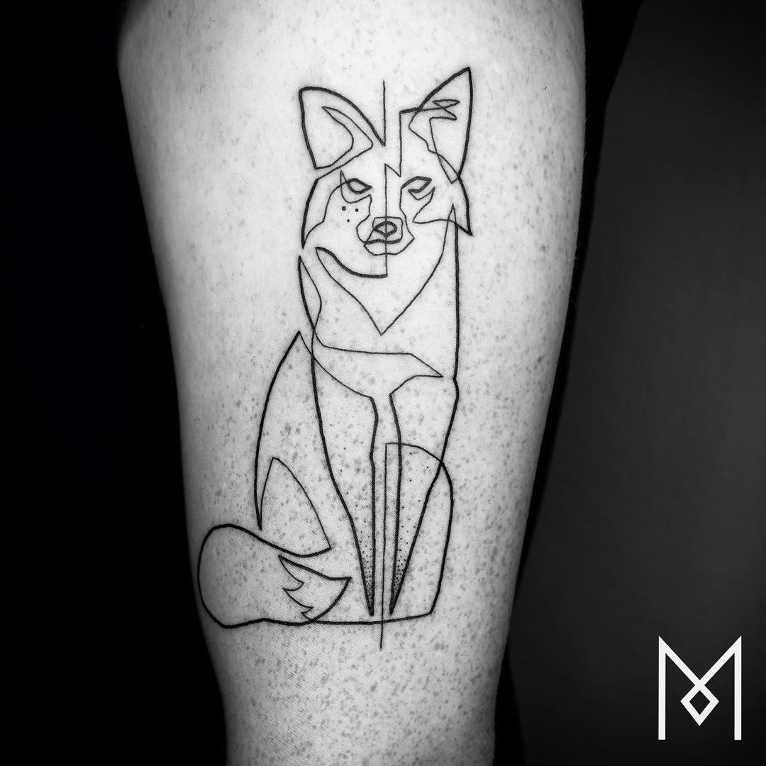 tatuajes de una linea 5
