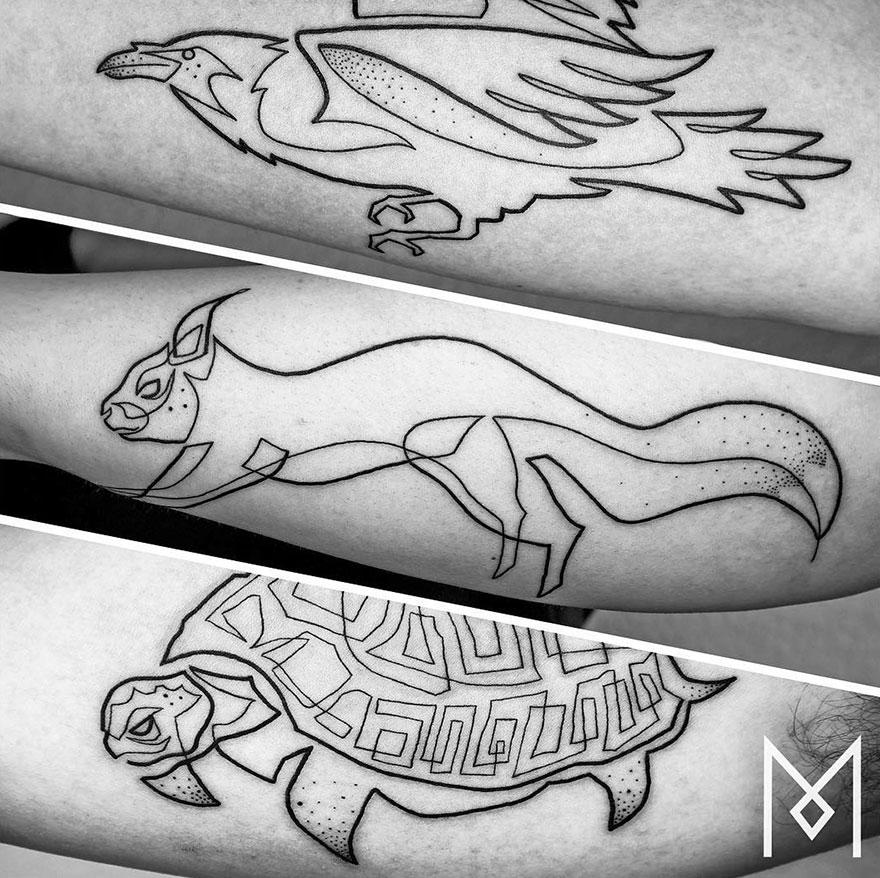 tatuajes de una linea 6