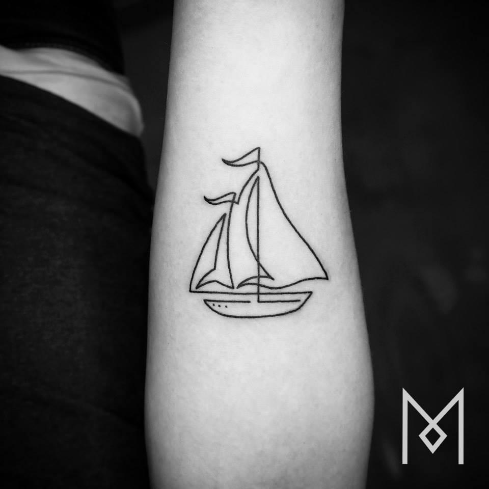 tatuajes de una linea 8