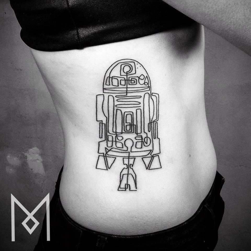 tatuajes de una linea 9