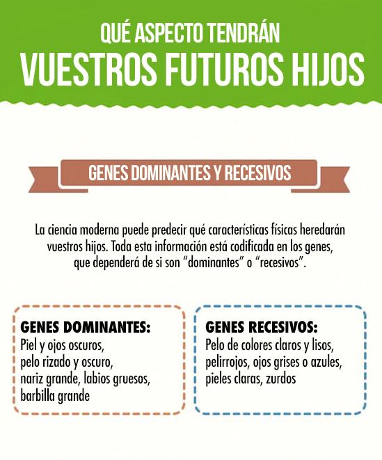 genes dominantes y recessives que son