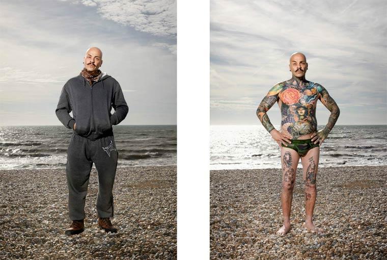 personas tatuadas que no te lo esperas al verlas vestidas 5