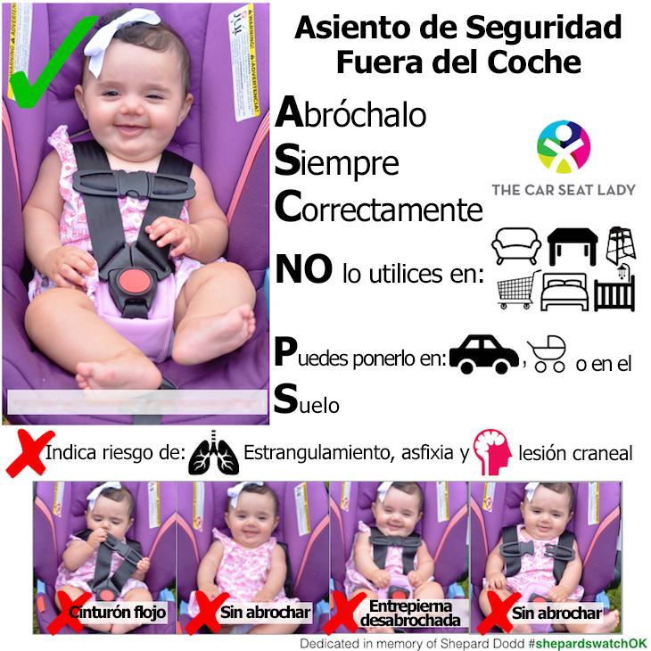 seguridad de los bebes en el coche