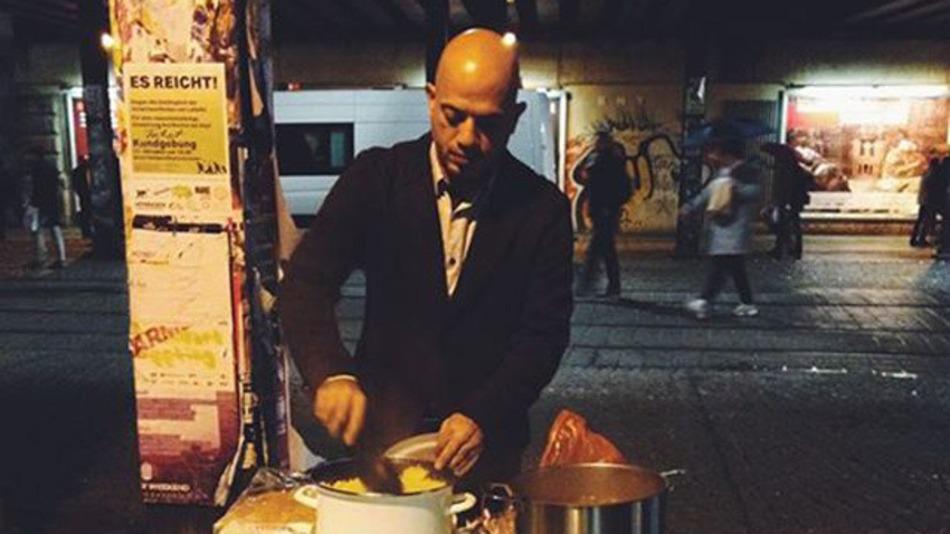 sirio refugiado comida