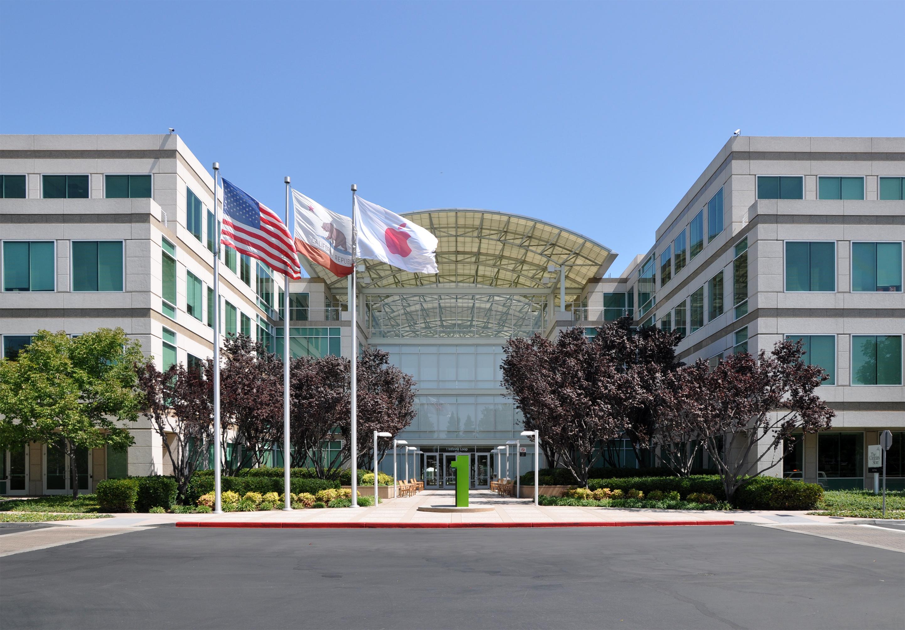 Sede Principal de Apple en Infinite Loop 1, Cupertino, California, USA.