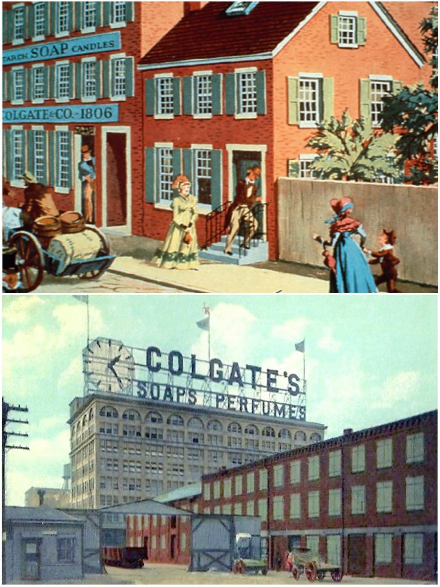 Sede Colgate en 1806 y 1910