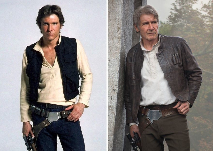antes y despues actores star wars1