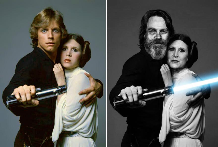 antes y despues actores star wars3