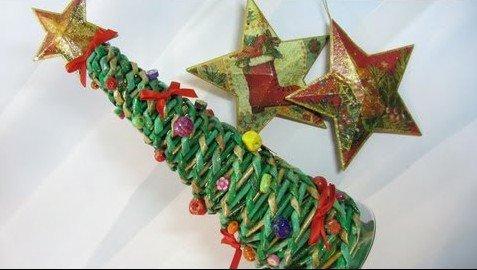 arbol-navidad-papel-periodicos