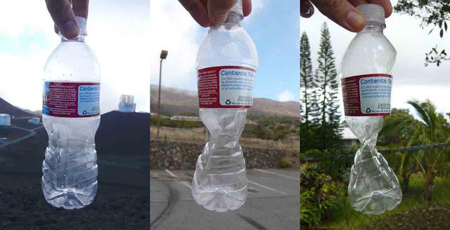 botella de plastico a presion
