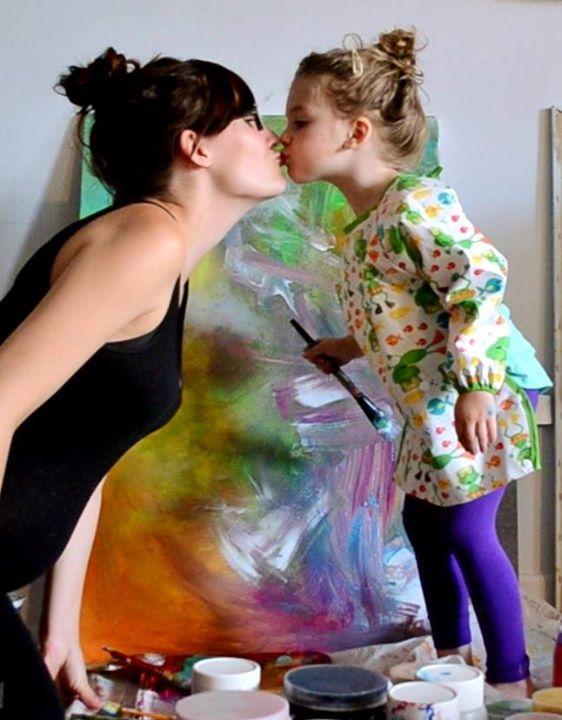 cuadros de ruth oosterman en colaboracion con su hija eve 1