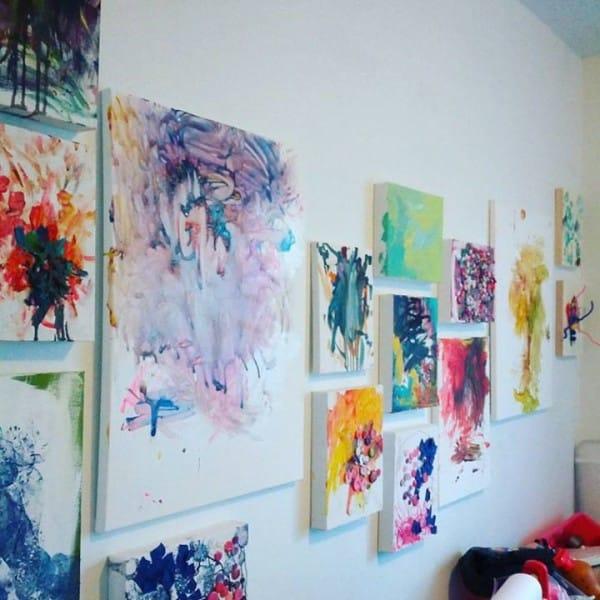 cuadros de ruth oosterman en colaboracion con su hija eve 12