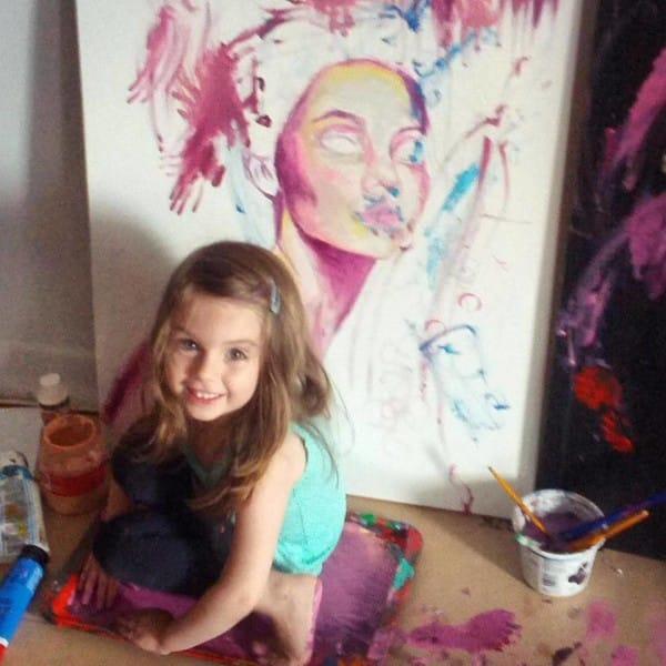 cuadros de ruth oosterman en colaboracion con su hija eve 13