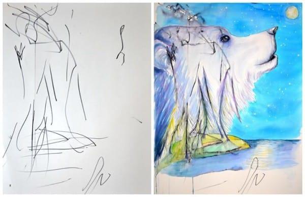 cuadros de ruth oosterman en colaboracion con su hija eve 2