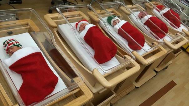 decoraciones navideñas en los hospitales 1