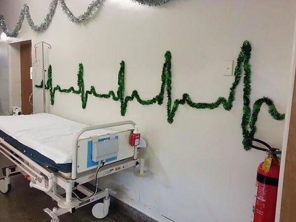 decoraciones navideñas en los hospitales 2
