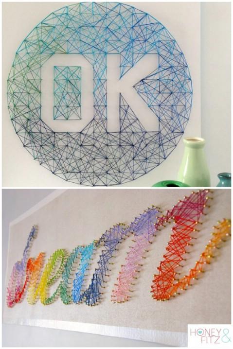 20 fant sticas ideas caseras para decorar tu casa con letras la voz del muro - Letras para paredes infantiles ...