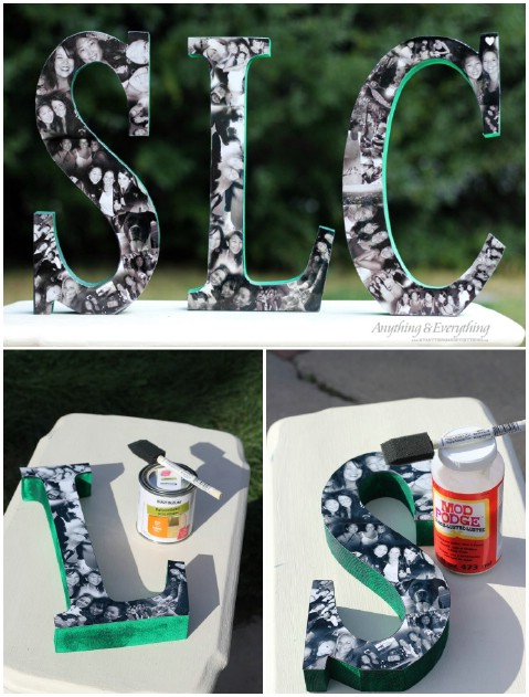 20 fant sticas ideas caseras para decorar tu casa con - Ideas para decorar letras de madera ...