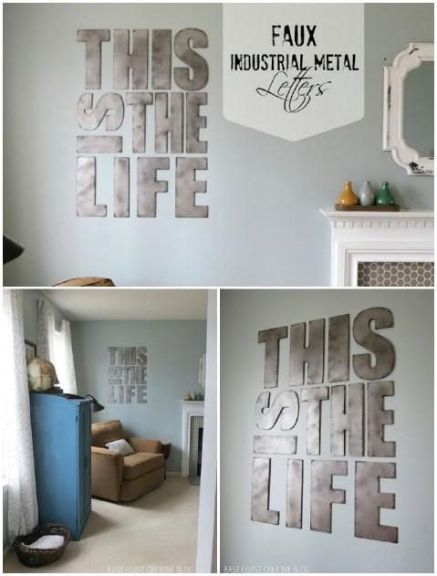 20 fant sticas ideas caseras para decorar tu casa con - Letras home decoracion ...