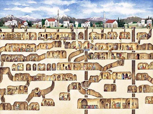 derinkuyu, la ciudad eexcavada en la piedra 3