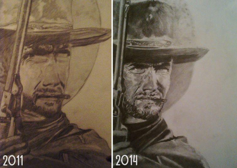 el progreso de la forma de dibujar a los largo de los años de 19 ilustradores 10