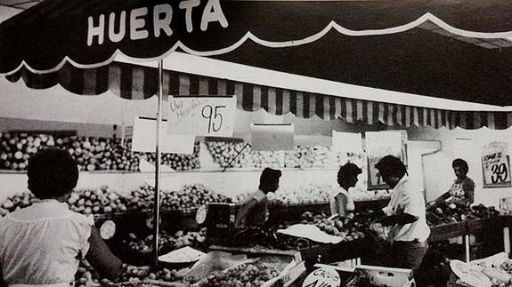 Imagen de uno de los primeros Mercadona en 1977.