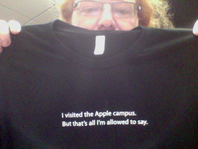"""""""Visité el campus de Apple, pero eso es lo único que estoy a autorizado a decir"""""""