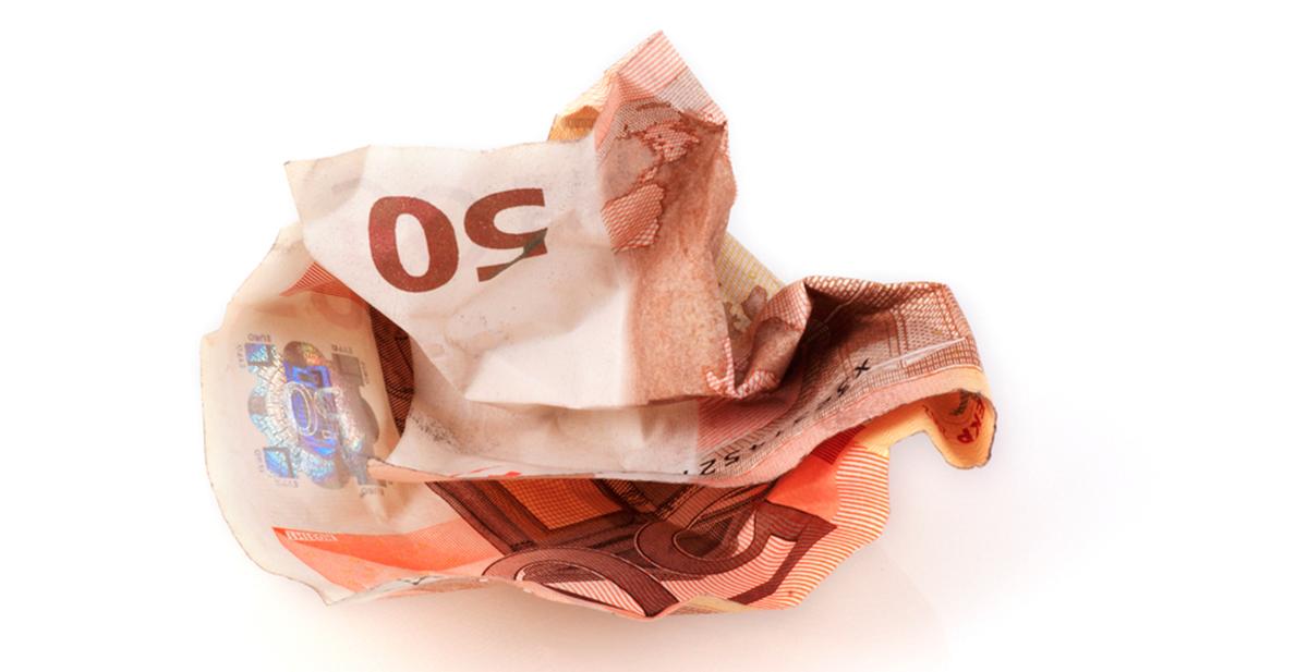 la fabula del billete arrugado de 50 euros