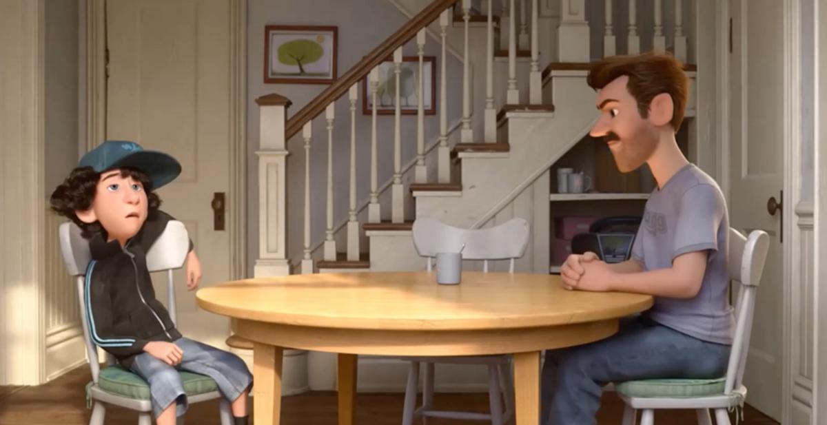 la primera cita de riley, el corto de animacion de pixar de su pelicula inside out