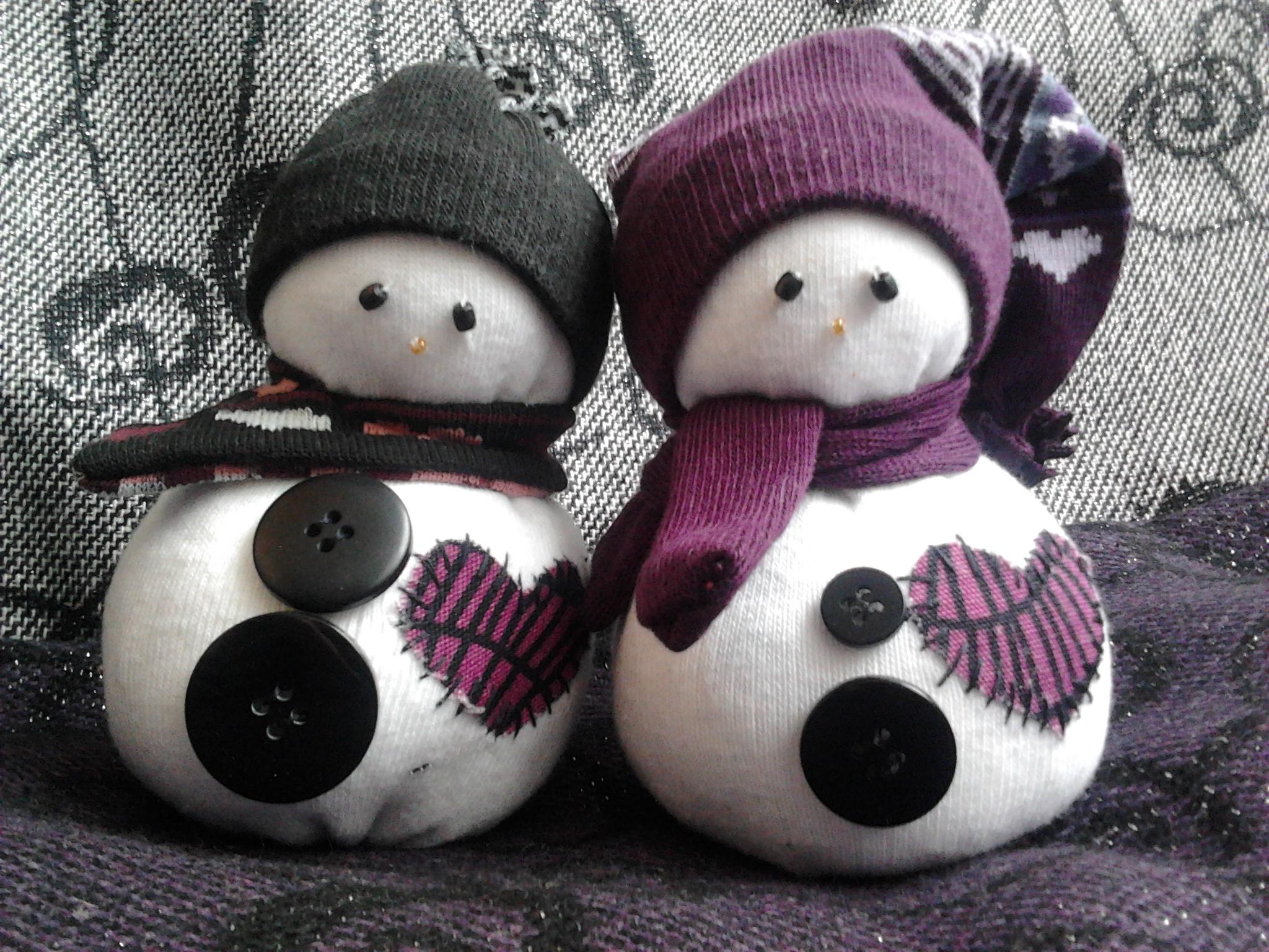 muñecos de nieve caseros