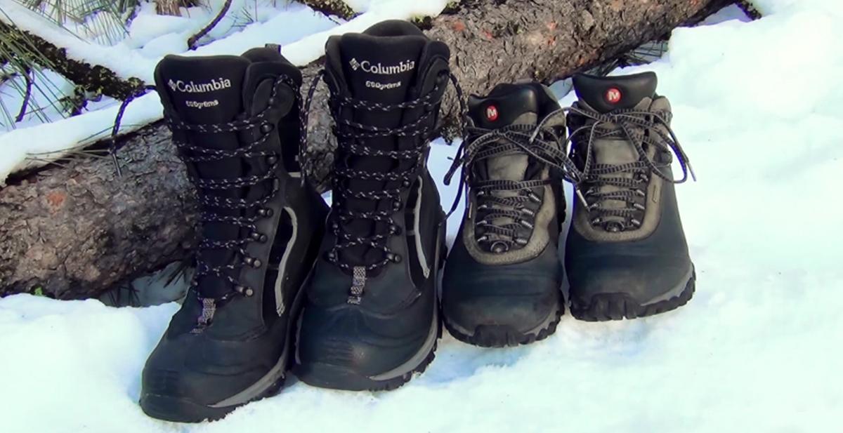 truco para mantener los pies calientes en la nieve